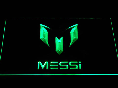 FC Barcelona Lionel Messi Logo LED Neon Sign - Green - SafeSpecial
