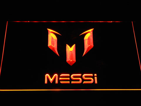FC Barcelona Lionel Messi Logo LED Neon Sign - Orange - SafeSpecial