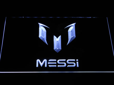 FC Barcelona Lionel Messi Logo LED Neon Sign - White - SafeSpecial