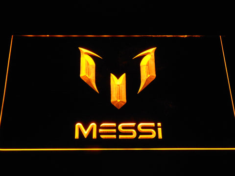 FC Barcelona Lionel Messi Logo LED Neon Sign - Yellow - SafeSpecial