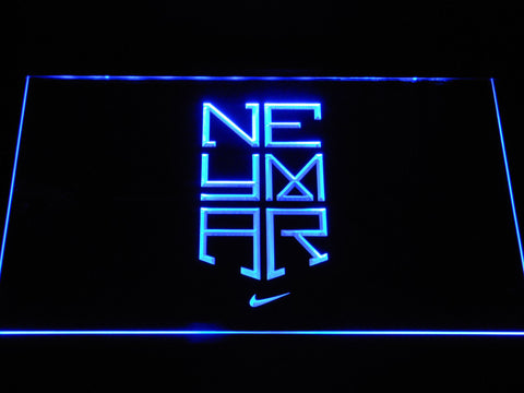 Image of FC Barcelona Neymar Logo LED Neon Sign - Blue - SafeSpecial