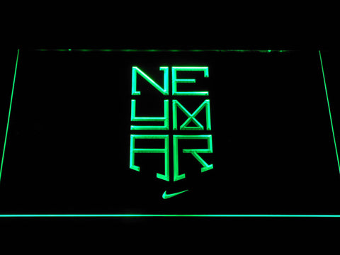 Image of FC Barcelona Neymar Logo LED Neon Sign - Green - SafeSpecial