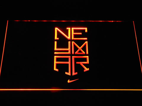 Image of FC Barcelona Neymar Logo LED Neon Sign - Orange - SafeSpecial