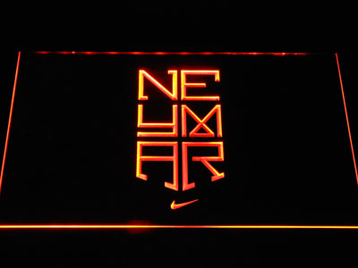 FC Barcelona Neymar Logo LED Neon Sign - Orange - SafeSpecial