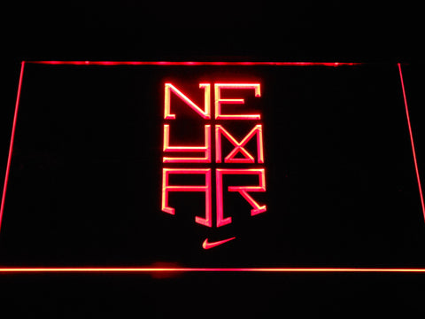 Image of FC Barcelona Neymar Logo LED Neon Sign - Red - SafeSpecial