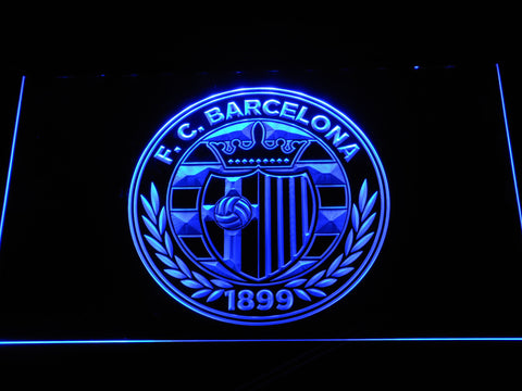 FC Barcelona Shield Crest LED Neon Sign - Legacy Edition - Blue - SafeSpecial