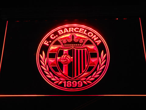 FC Barcelona Shield Crest LED Neon Sign - Legacy Edition - Red - SafeSpecial