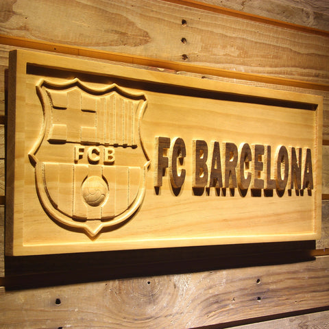 Image of FC Barcelona Wooden Sign - - SafeSpecial