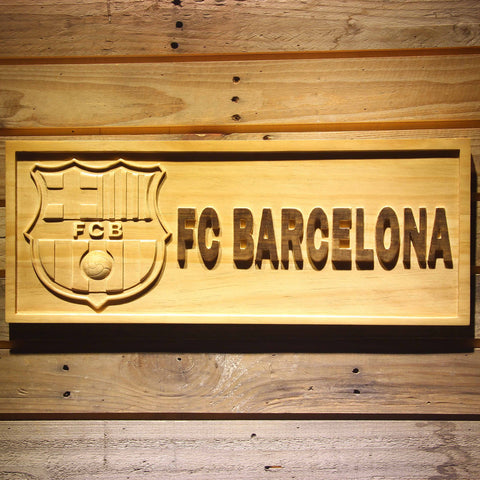 Image of FC Barcelona Wooden Sign - Small - SafeSpecial