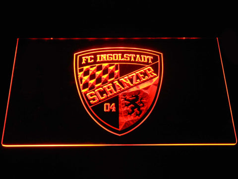 FC Ingolstadt 04 LED Neon Sign - Orange - SafeSpecial