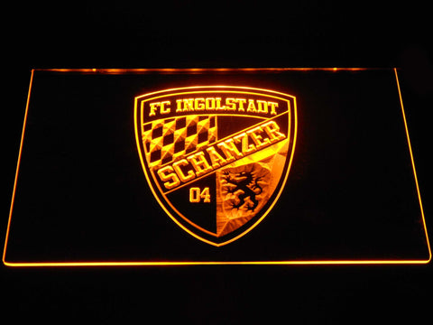 FC Ingolstadt 04 LED Neon Sign - Yellow - SafeSpecial
