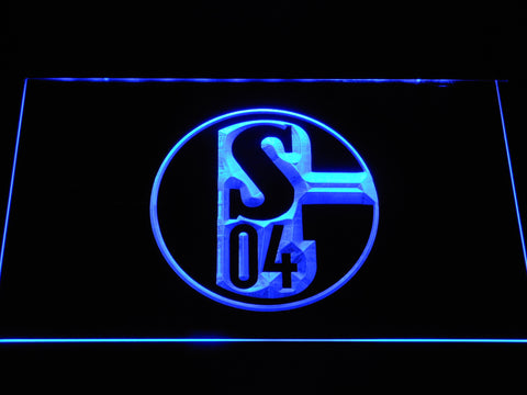 Image of FC Schalke 04 LED Neon Sign - Blue - SafeSpecial