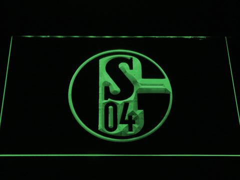 Image of FC Schalke 04 LED Neon Sign - Green - SafeSpecial