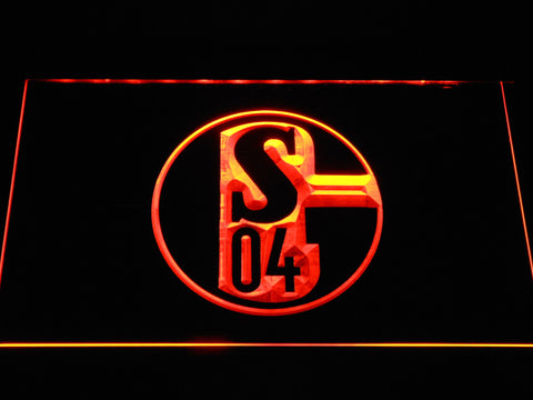FC Schalke 04 LED Neon Sign - Orange - SafeSpecial