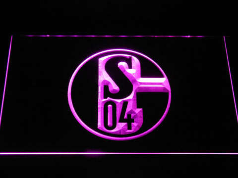 FC Schalke 04 LED Neon Sign - Purple - SafeSpecial