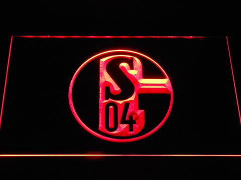 Image of FC Schalke 04 LED Neon Sign - Red - SafeSpecial