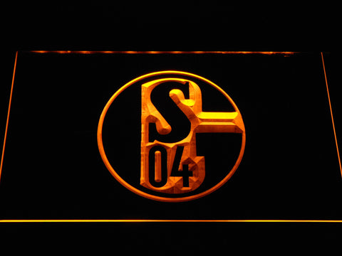 Image of FC Schalke 04 LED Neon Sign - Yellow - SafeSpecial