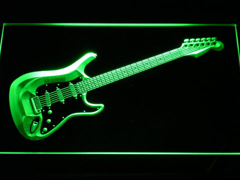 Image of Fender Stratocaster LED Neon Sign - Green - SafeSpecial