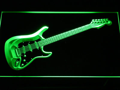 Fender Stratocaster LED Neon Sign - Green - SafeSpecial