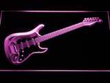 Fender Stratocaster LED Neon Sign - Purple - SafeSpecial