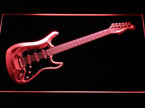 Image of Fender Stratocaster LED Neon Sign - Red - SafeSpecial