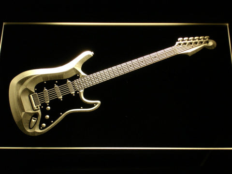 Image of Fender Stratocaster LED Neon Sign - Yellow - SafeSpecial