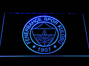 Fenerbahce SK Crest LED Neon Sign - Blue - SafeSpecial
