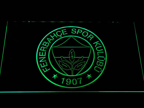 Fenerbahce SK Crest LED Neon Sign - Green - SafeSpecial