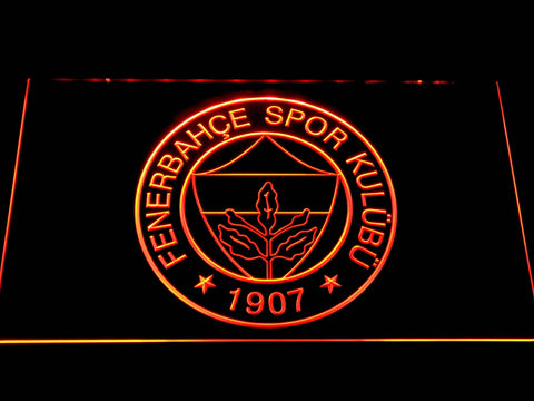 Image of Fenerbahce SK Crest LED Neon Sign - Orange - SafeSpecial