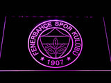 Fenerbahce SK Crest LED Neon Sign - Purple - SafeSpecial