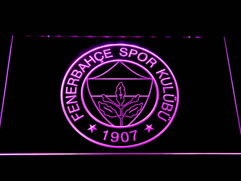 Image of Fenerbahce SK Crest LED Neon Sign - Purple - SafeSpecial