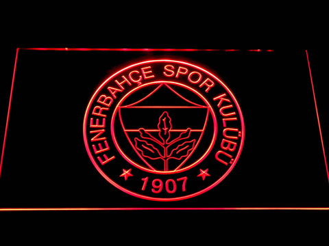Image of Fenerbahce SK Crest LED Neon Sign - Red - SafeSpecial