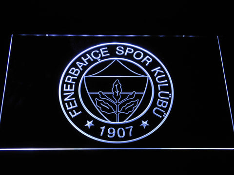 Image of Fenerbahce SK Crest LED Neon Sign - White - SafeSpecial
