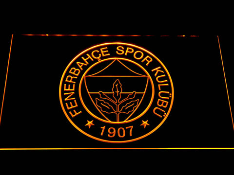 Image of Fenerbahce SK Crest LED Neon Sign - Yellow - SafeSpecial