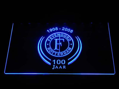 Feyenoord Rotterdam 1908- 2008 LED Neon Sign - Blue - SafeSpecial