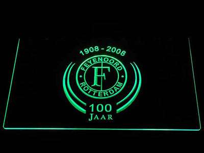 Feyenoord Rotterdam 1908- 2008 LED Neon Sign - Green - SafeSpecial