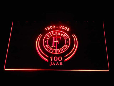 Feyenoord Rotterdam 1908- 2008 LED Neon Sign - Red - SafeSpecial