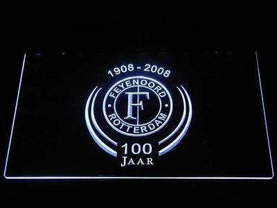 Feyenoord Rotterdam 1908- 2008 LED Neon Sign - White - SafeSpecial