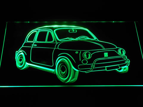 Image of Fiat 500 LED Neon Sign - Green - SafeSpecial