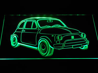 Fiat 500 LED Neon Sign - Green - SafeSpecial