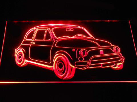 Image of Fiat 500 LED Neon Sign - Red - SafeSpecial