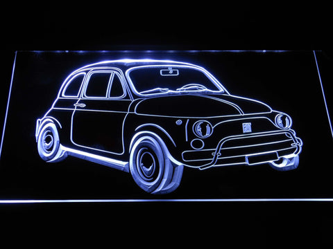 Image of Fiat 500 LED Neon Sign - White - SafeSpecial