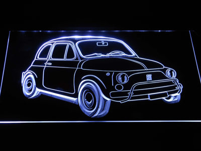 Fiat 500 LED Neon Sign - White - SafeSpecial