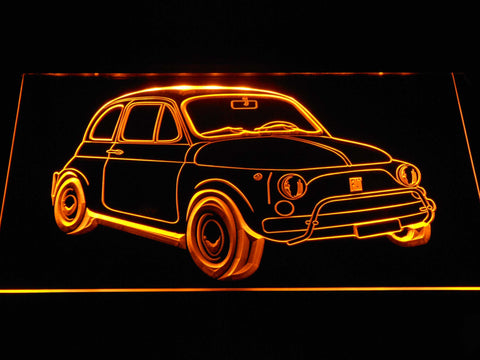 Image of Fiat 500 LED Neon Sign - Yellow - SafeSpecial