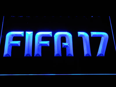 FIFA 17 LED Neon Sign - Blue - SafeSpecial