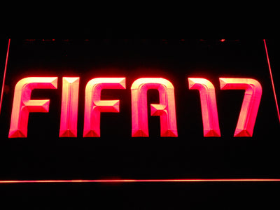 FIFA 17 LED Neon Sign - Red - SafeSpecial
