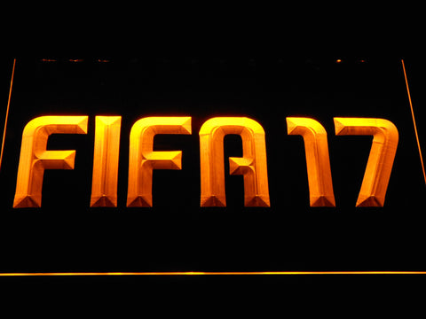 Image of FIFA 17 LED Neon Sign - Yellow - SafeSpecial