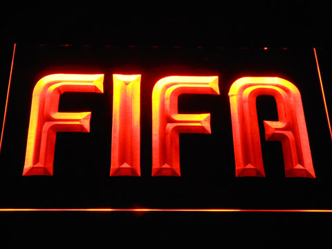 Image of FIFA LED Neon Sign - Orange - SafeSpecial