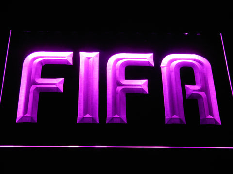 Image of FIFA LED Neon Sign - Purple - SafeSpecial