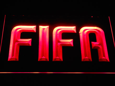 Image of FIFA LED Neon Sign - Red - SafeSpecial